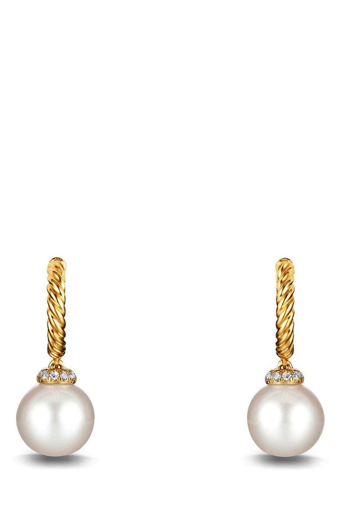 1b30b7d38feae Women's David Yurman 'Solari' Hoop Earring With Diamonds And Pearls ...
