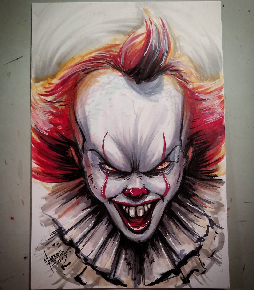 it the clown how to draw