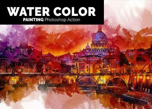 Water Color Painting Photoshop Action Photoshop Actions