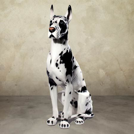 Intrada Great Dane Harlequin Great Dane Dog Statue Is 43 Inches