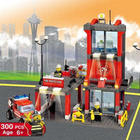 GET $50 NOW | Join RoseGal: Get YOUR $50 NOW!http://www.rosegal.com/hobbies-and-toys/300pcs-abs-mini-fire-station-950156.html?seid=2275071rg950156