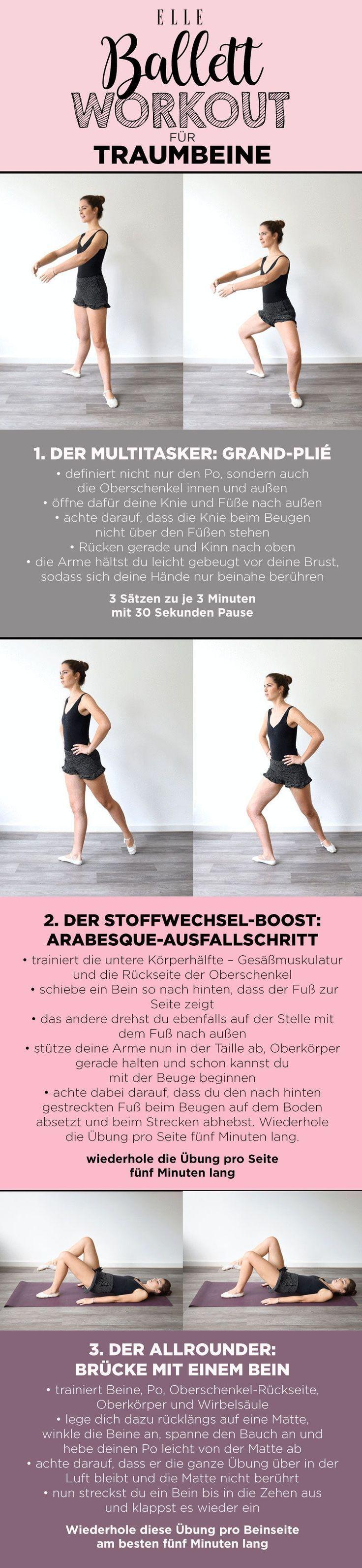 Ballett-Workout: drei Profi-Übungen für Traumbeine#workout #fitness #ballett #...  -  #ballett #Ball...