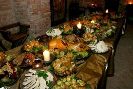 Medieval wedding feast menu