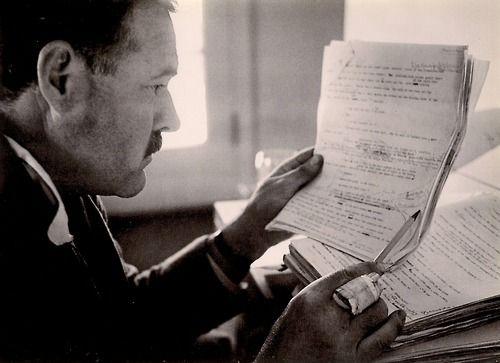 Ernest Hemingway by Robert Capa. Sun Valley, Idaho, November 1940.
