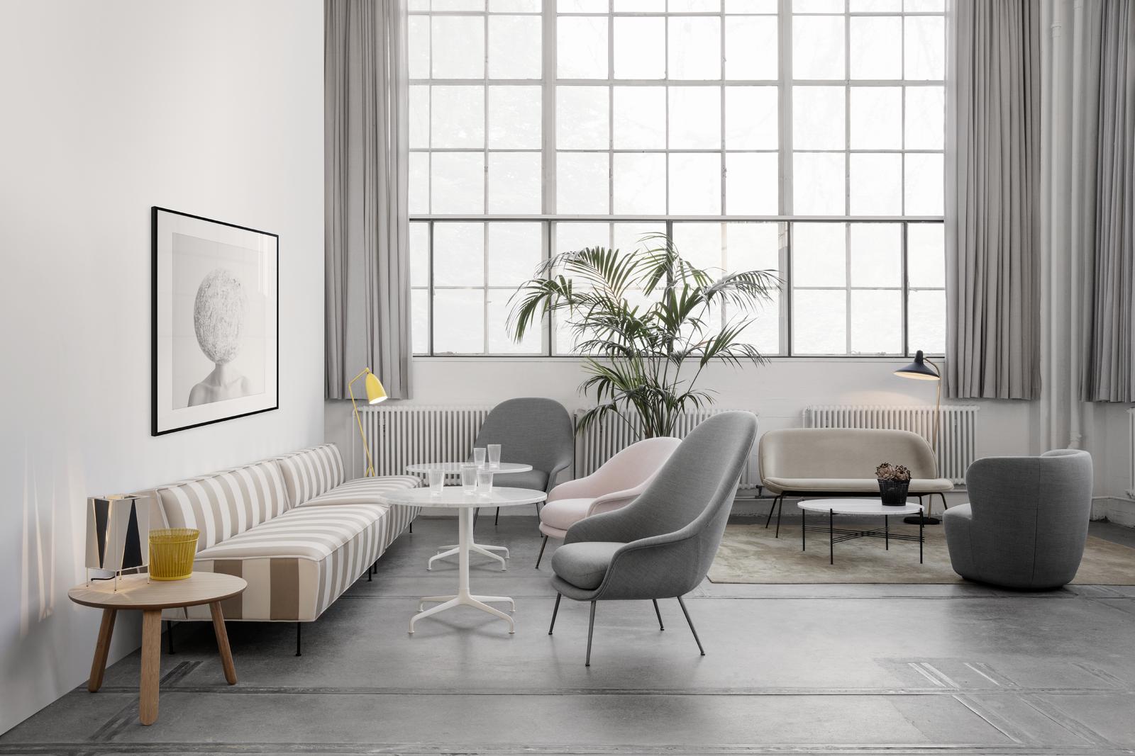 Gubi Modern Line Sofa By Greta M Grossman Paper Table