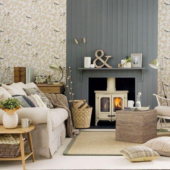 Image Result For Chimney Breast Tv Wood Burner  Guernsey Sitting Prepossessing Design Ideas For Living Room With Fireplace Inspiration