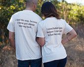 TOGETHER SINCE™ Custom Couples T-Shirts Anniversary by GroomSocks