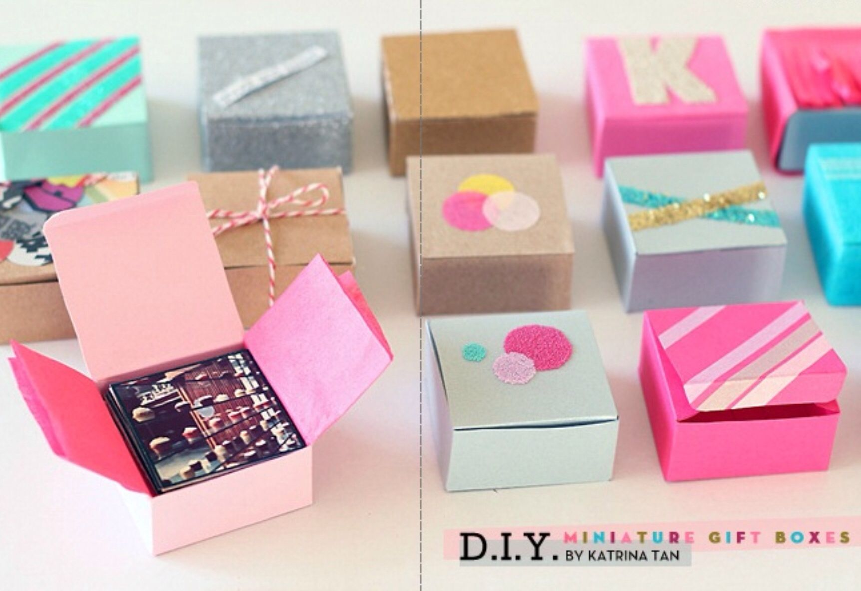 DIY Mini Boxes Diy holiday gifts, Instagram diy, Gifts