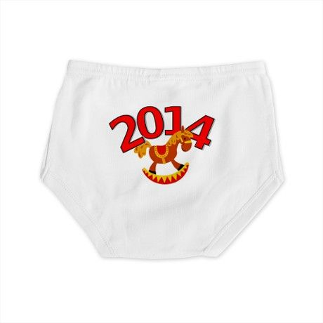 Chinese New Year - 2014 Rocking Horse Diaper Cover