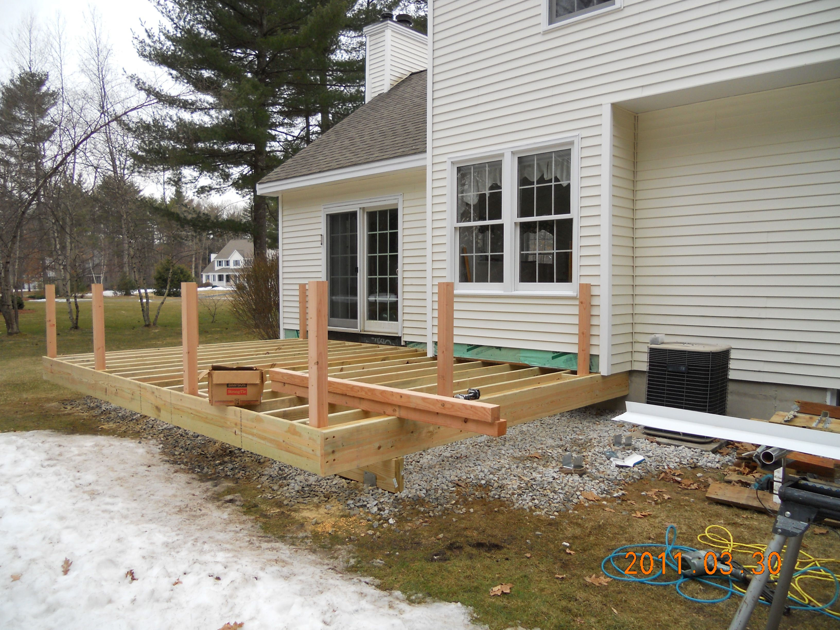 Attaching deck to house with siding - Find This Pin And More On Deck Deck Framing Is Complete
