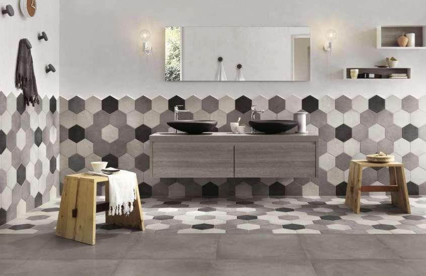 Cementine esagonali per il bagno in tile doesn t die
