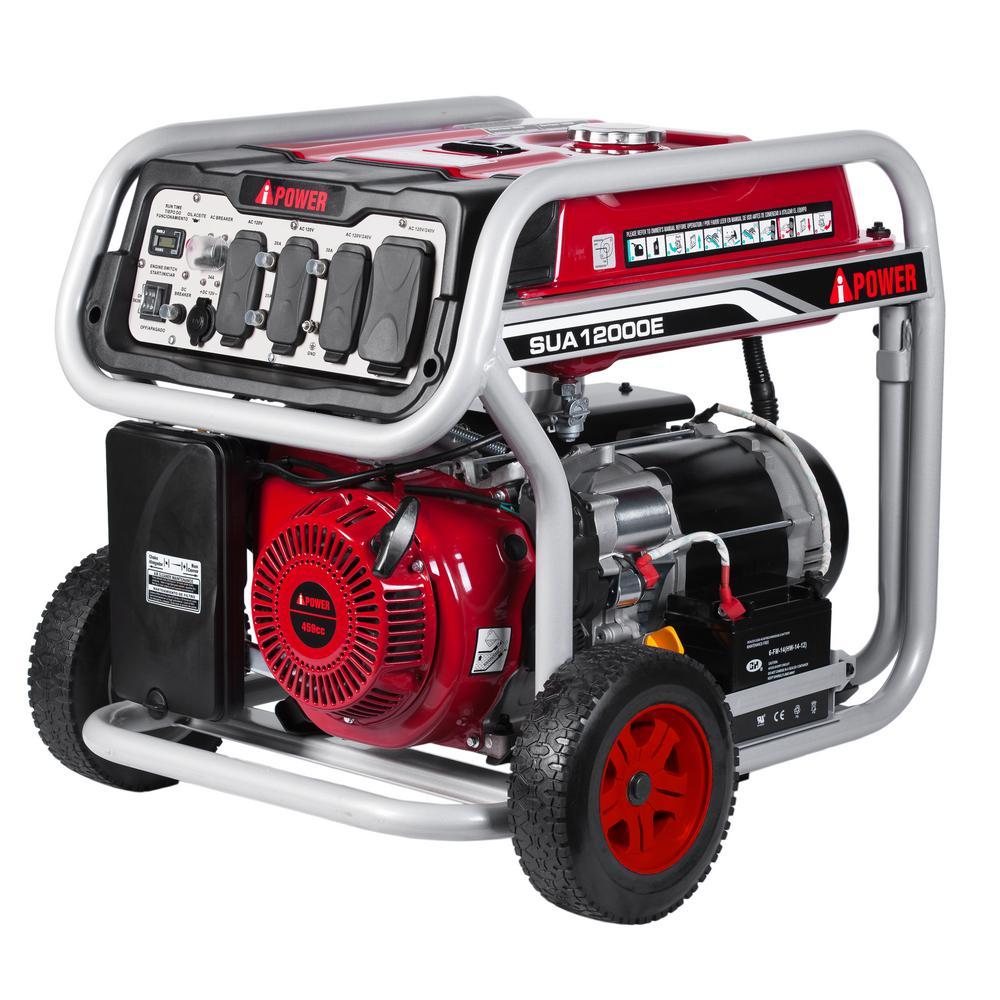 A Ipower 9000 Watt Gasoline Powered Start Portable Generator Portable Inverter Generator Power Generator Portable Generator
