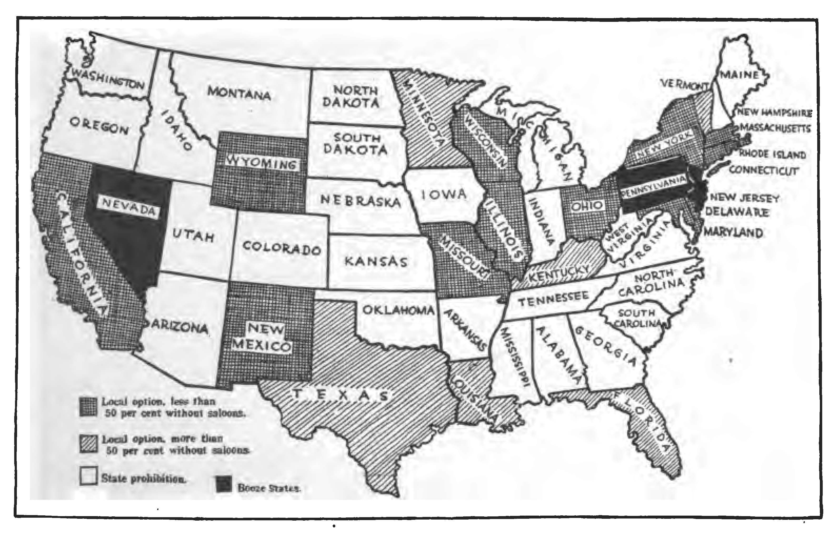 Prohibition Map My Wedding Pinterest Clarence Darrow - Map of the us in the prohibition