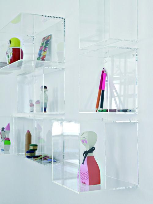 Inattendu Acrylic Furniture Acrylic Wall Shelf Display Shelves