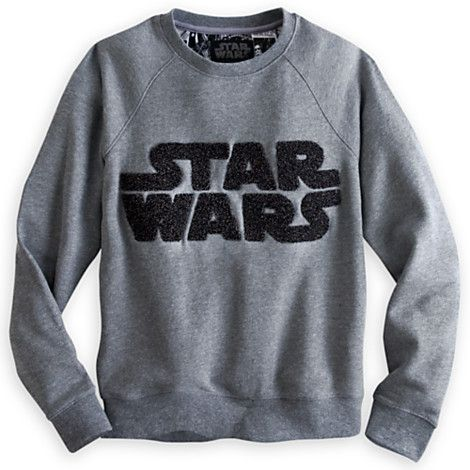 star wars logo pullover sweatshirt for women tees tops shirts disney store elegant. Black Bedroom Furniture Sets. Home Design Ideas