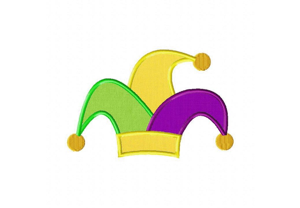Jester Hat Machine Embroidery Design Includes Both Applique And