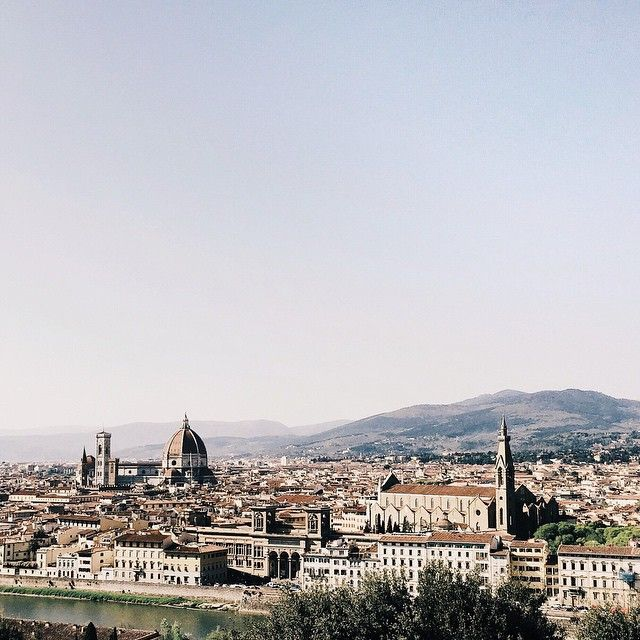 • The highest view from Piazzale Michelangelo //#florence #whatitalyis #skyline • #markostravel