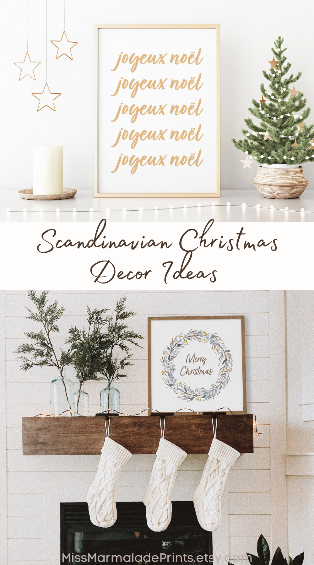 Want To Create Your Own Scandinavian Christmas Look Here Are Some Easy Ideas With Art Prints In 2020 Minimalist Christmas Decor Christmas Art Christmas Prints