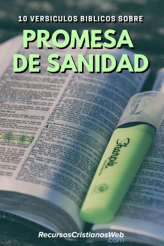 Versiculos Biblicos De Promesas De Dios: Versículos Bíblicos De Sanidad Prometida Por Dios