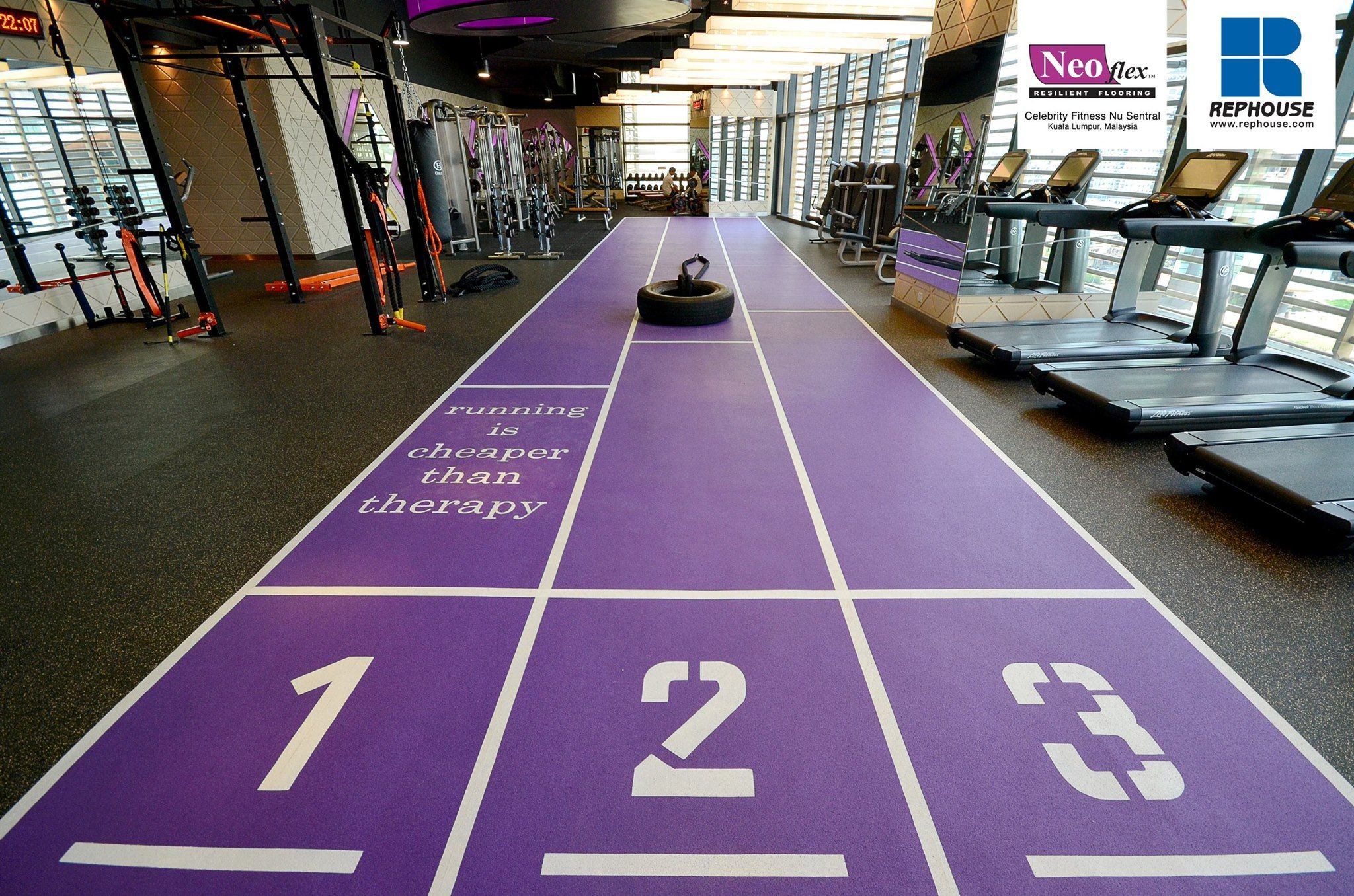 Decoflex indoor sprint track @ celebrity fitness nu sentral