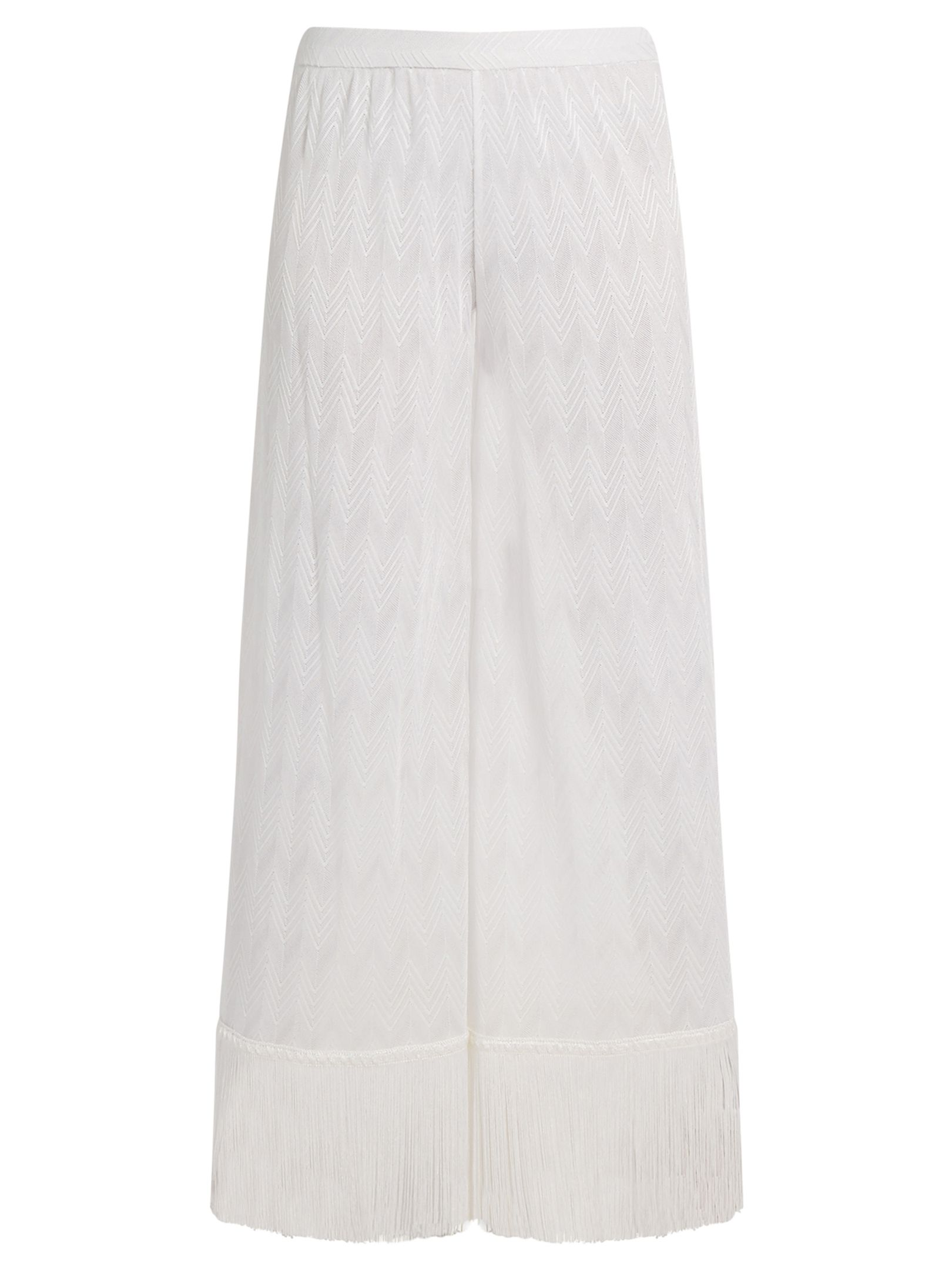 Click here to buy Missoni Mare Zigzag-knit fringed-hem trousers at MATCHESFASHION.COM