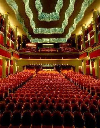 from the stage, looking to the back of the theatre