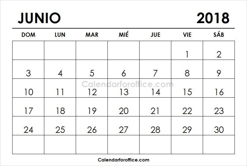 Calendario 2018 Junio Para Imprimir 2019 Calendar 2021 Calendar