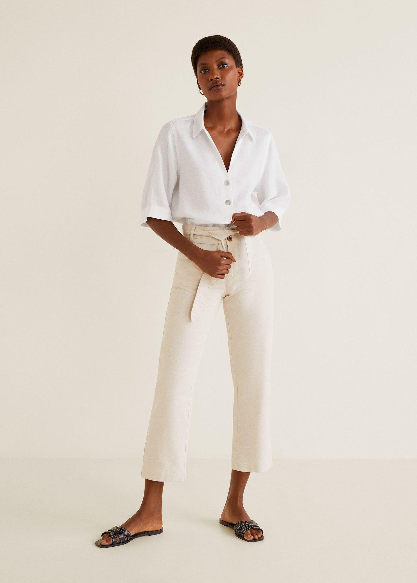 d7ff31c60 Camisa lino botones - Mujer