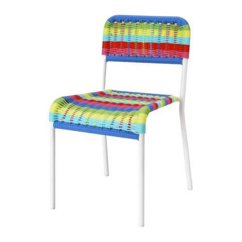 "FÄRGGLAD Children's chair, multicolor. For the kids' ""dining"" area"