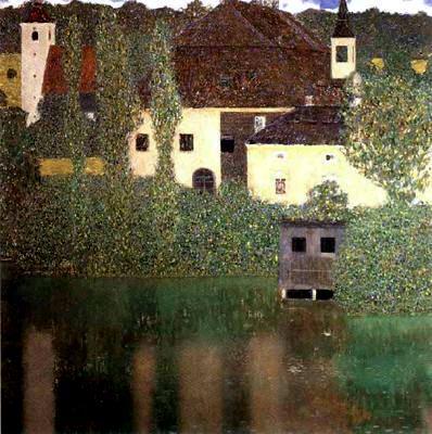 fuckyeahgustavklimt:gustav Klimt, Schloss Kammer on the Attersee I, Date: 1908