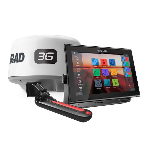 Simrad GO12 XSE Combo Package w/3G Radar TotalScan