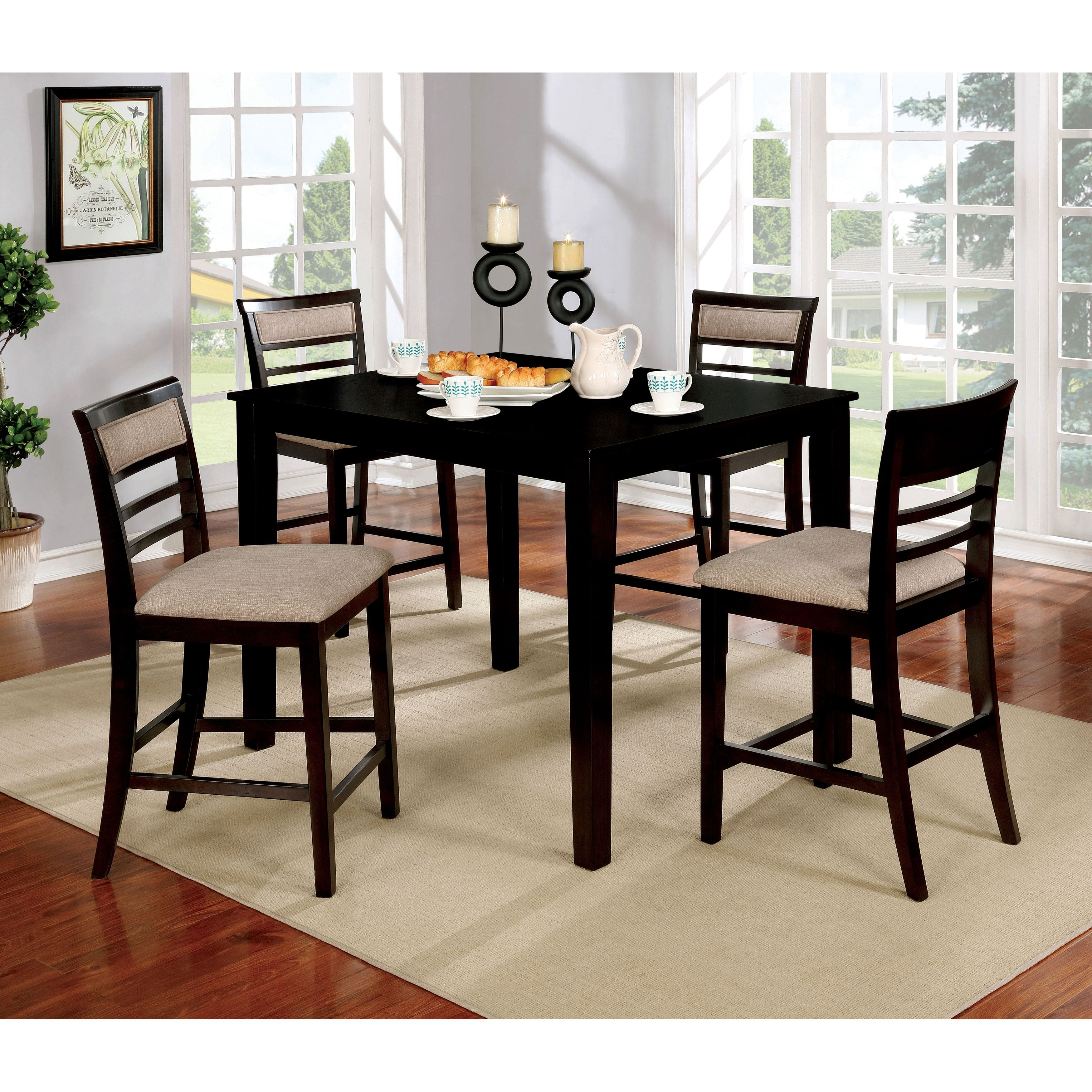Furniture of America Yevana Contemporary 5 piece Counter Height