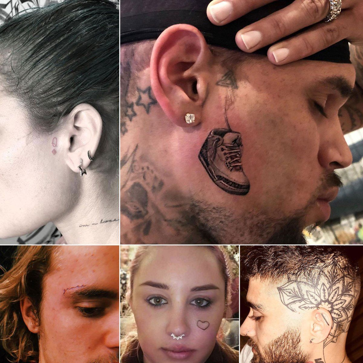 Chris Brown, Amber Rose and More Stars With Face Tattoos