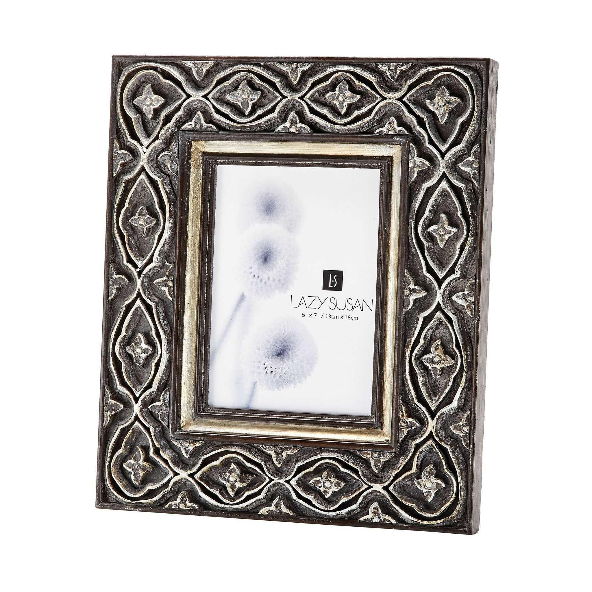 Hand Carved Ornate 5x7 Frame Silver | 5x7 frames and Products