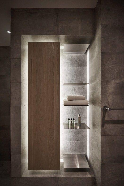 Light and dark playful arrangement bathroom in Taiwan - Xie Residence
