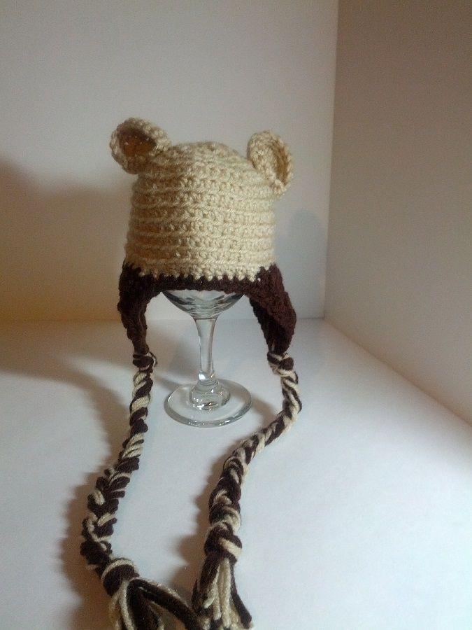 Bear Hat for baby boy! #lovetocrochet #earflap #crochethat