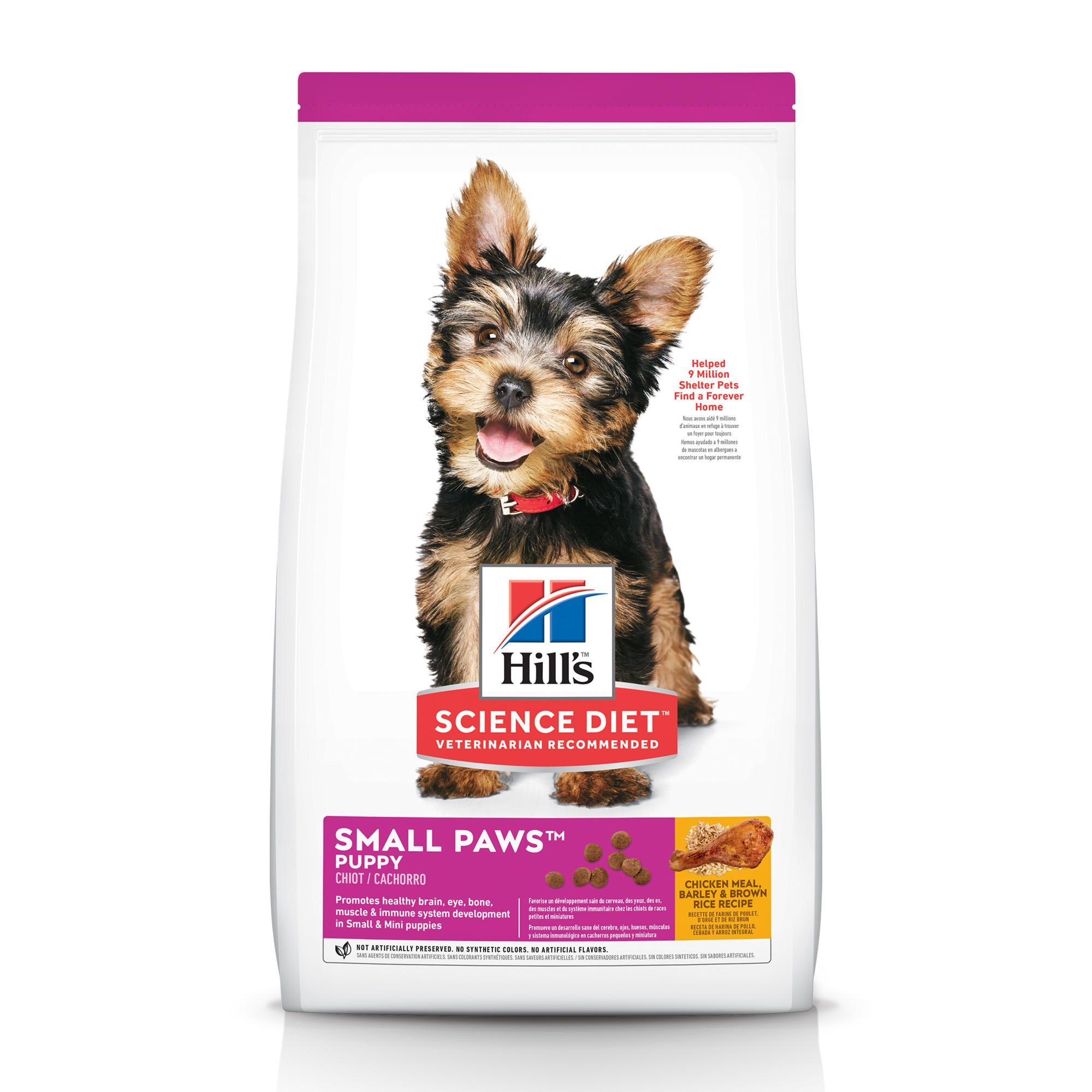 Hill S Science Diet Small Paws Chicken Meal Barley Brown Rice Recipe Dry Puppy Food 4 5 Lbs Bag Petco Hills Science Diet Small Puppies Dog Food Recipes