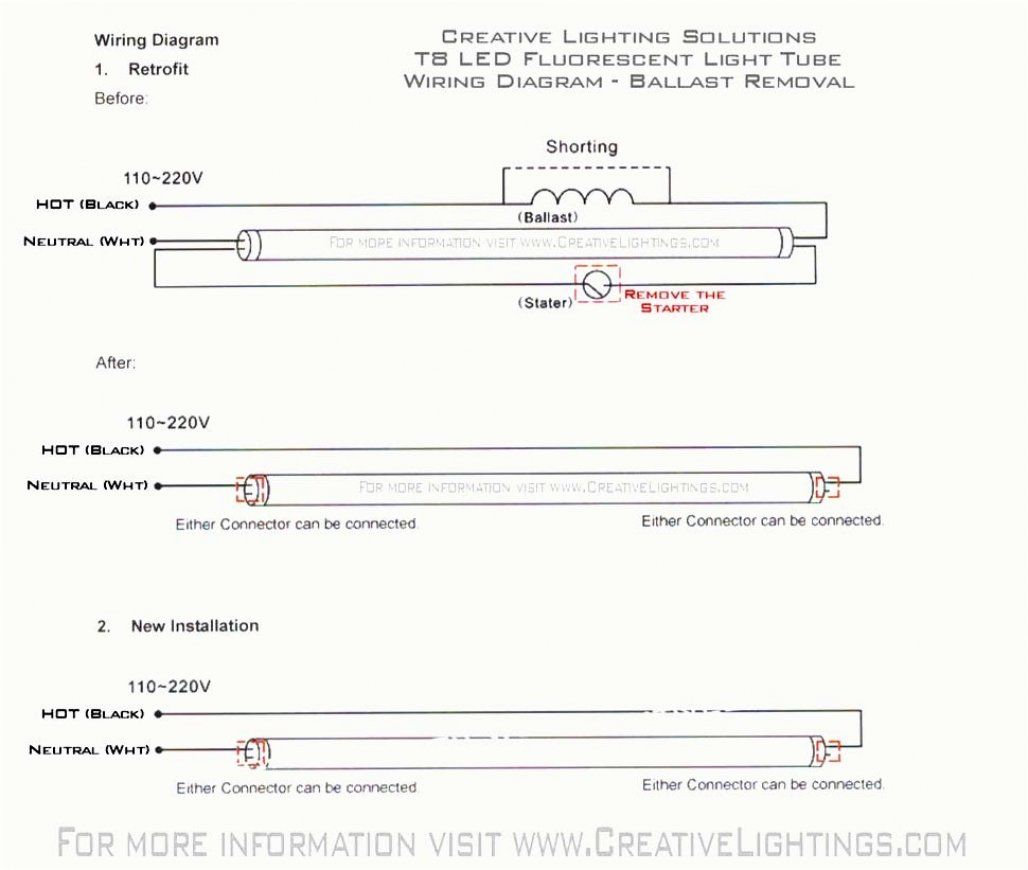 T5 Fluorescent Wiring Diagram
