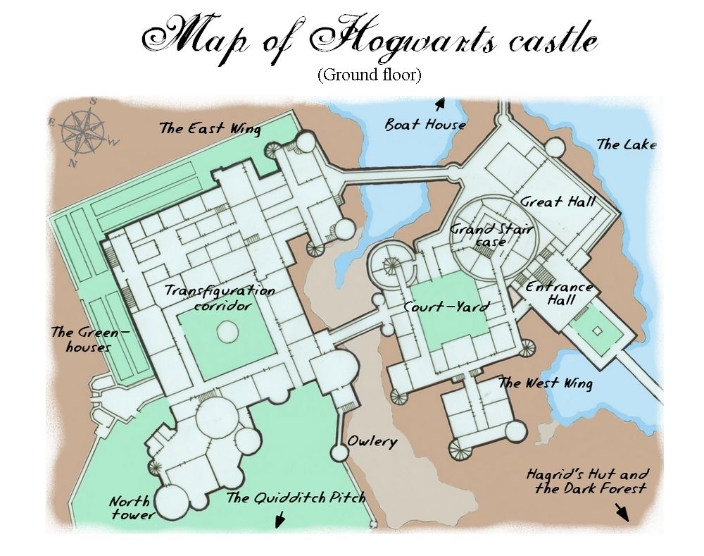 Harry potter hogwarts castle map the wonderful world of harry harry potter hogwarts castle map malvernweather Image collections