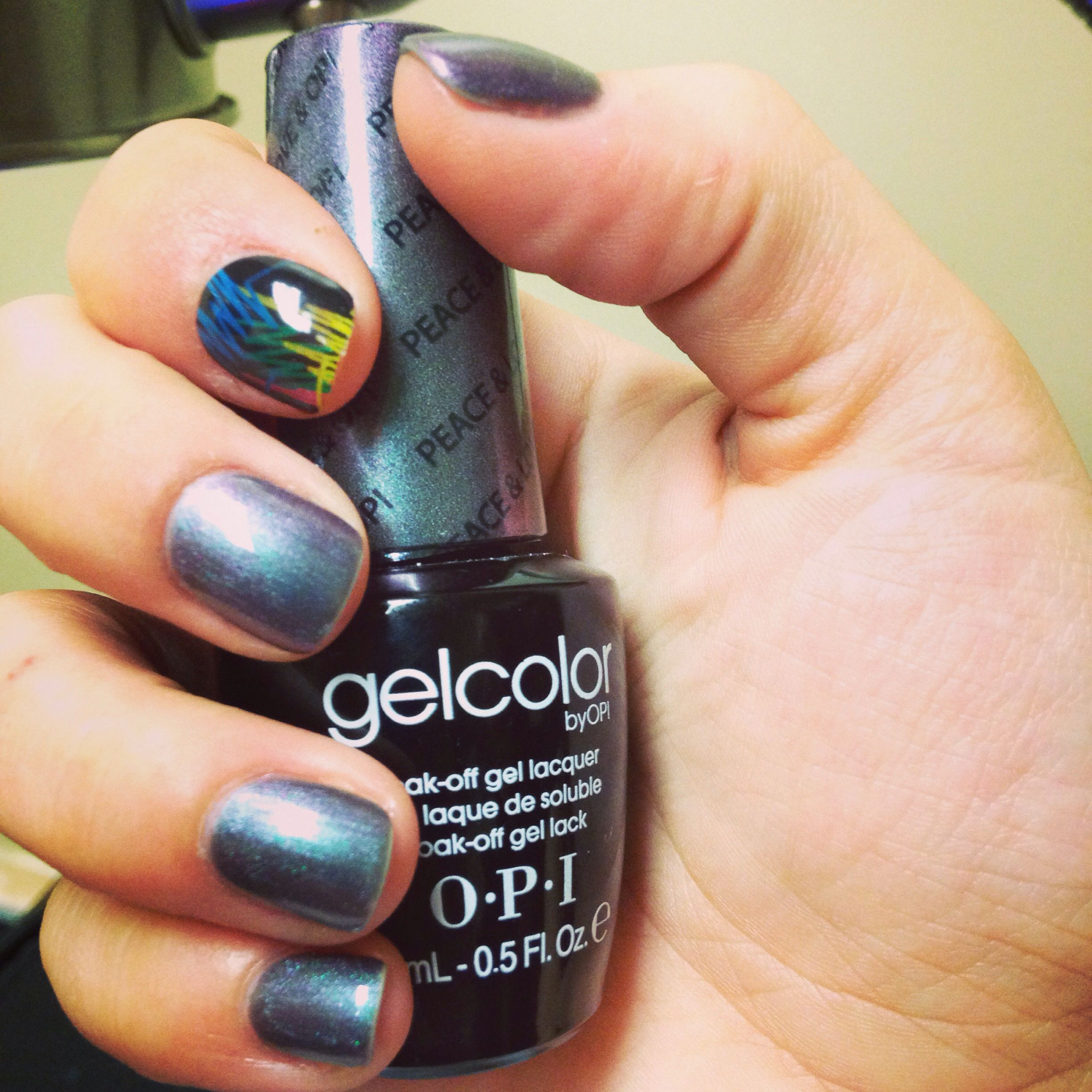OPI gel polish in Peace, Love, and OPI and MINX design | Nails by ...