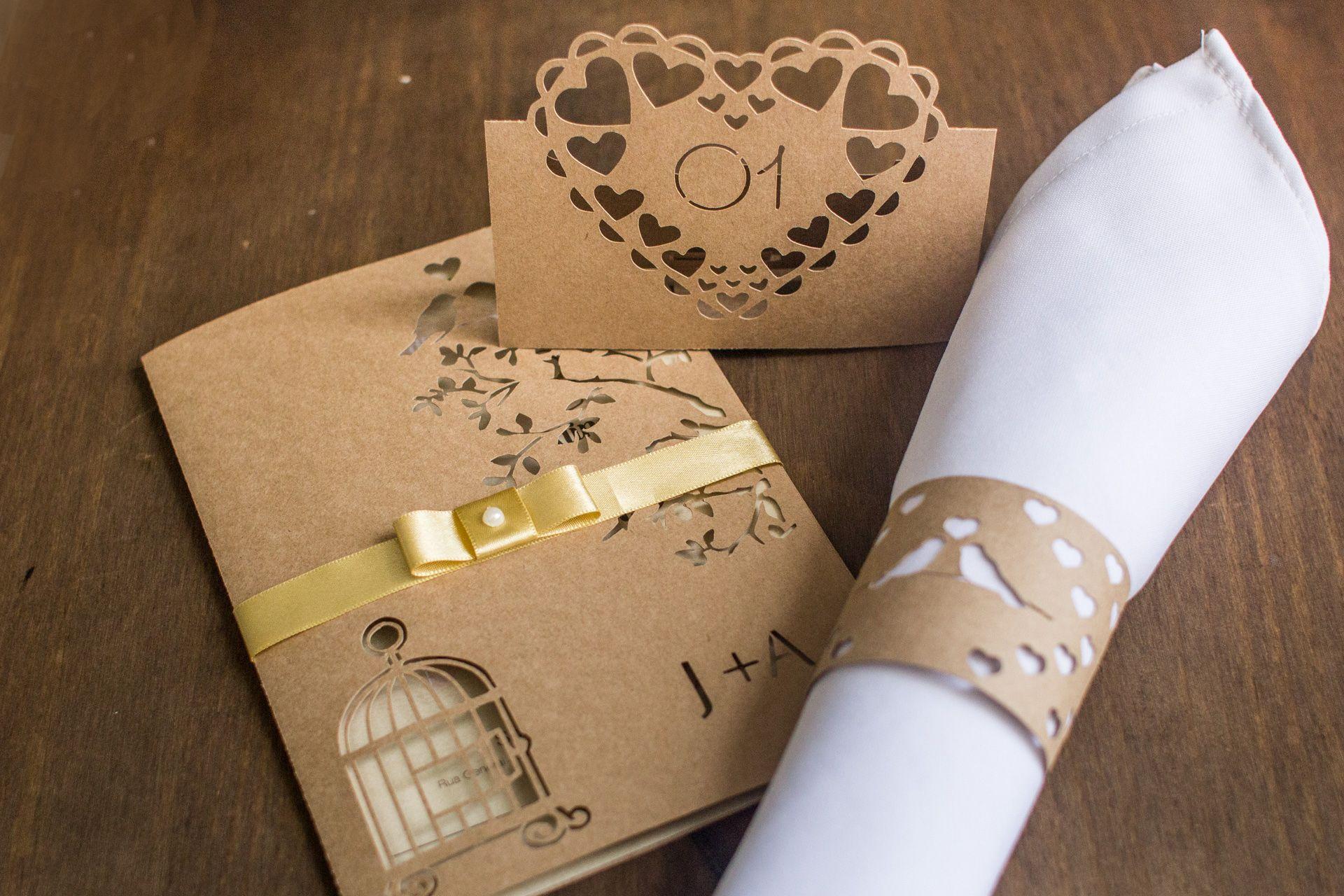Convite Recortado La Martina Casamento Wedding Convite Rendado