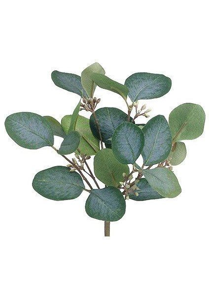 3 X Artificial Silk Green//Grey Eucalyptus leaf bushes//Flower Arrangement
