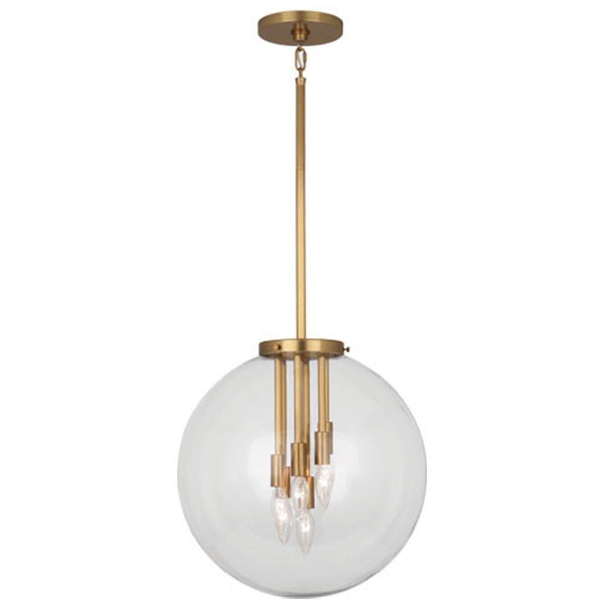 Robert Abbey 2433 Zoltar 6 Light Pendant in Antique Brass
