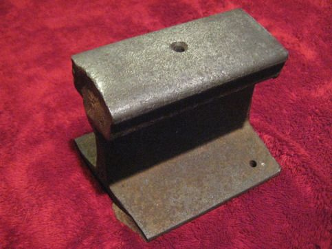 """6"""" Reclaimed Section Of Railway found in New England. Looks to have been repurposed into an anvil. Do the same or display it! Great for any train enthusiast! - $39.99"""