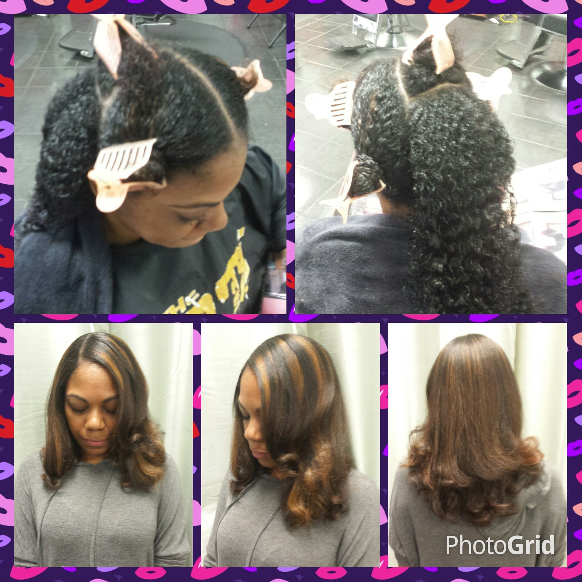 Hair coloring on natural hair at Trendz by Tammy Hair Salon Houston