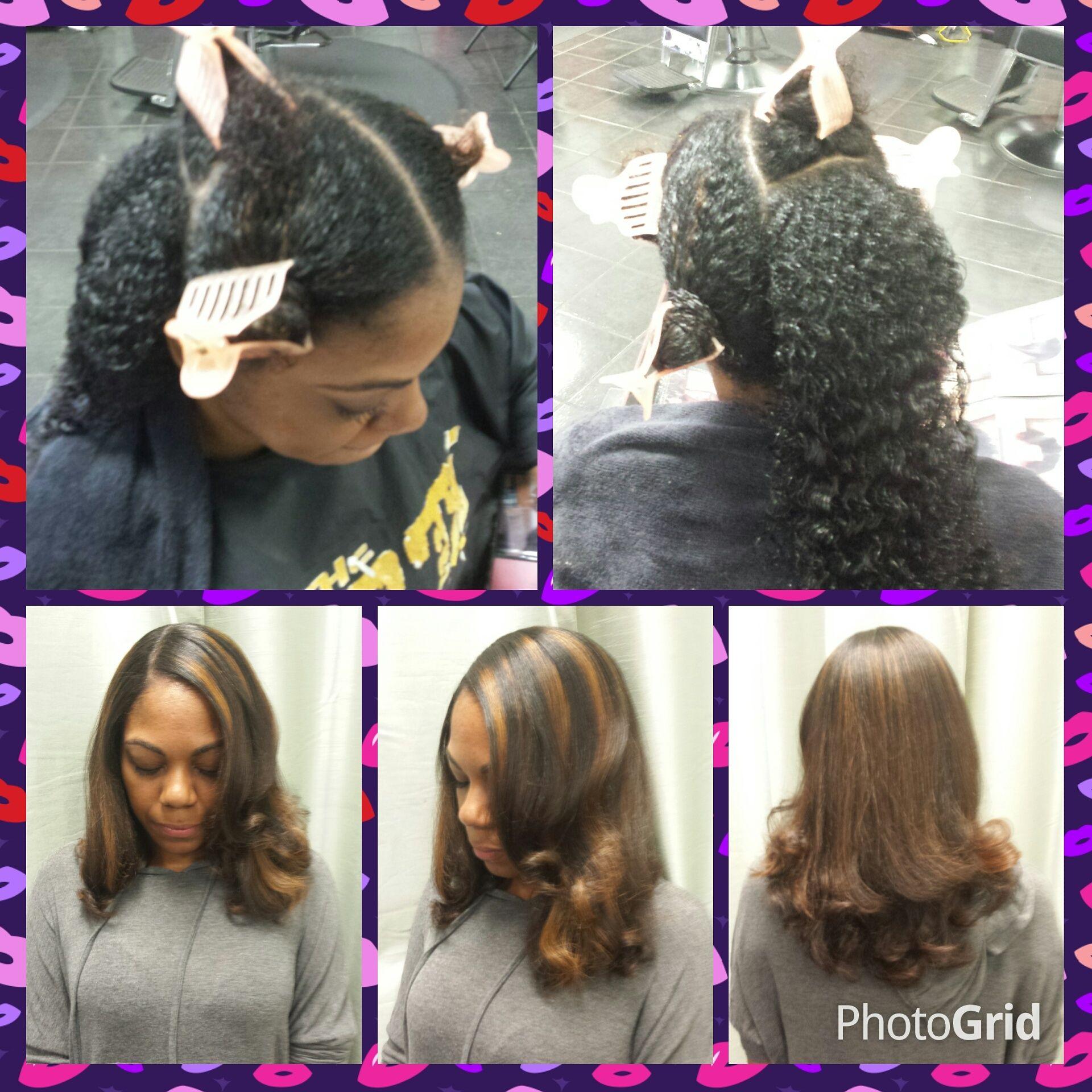 Hair coloring on natural hair at Trendz by Tammy Hair Salon ...