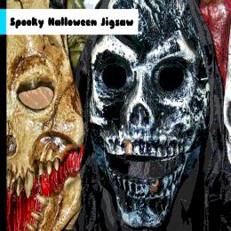 لعبة تركيب صور سبوكي هالوين Spooky Halloween Jigsaw Halloween Face Makeup Halloween Face Face Makeup