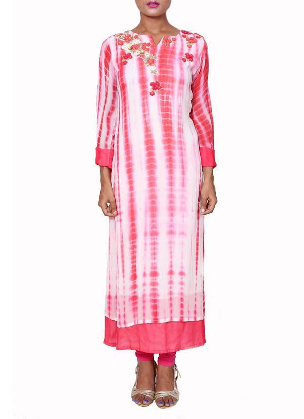 Anju Agarwal | Tie and Dye Cherry Tunic | Shop Tunics at strandofsilk.com