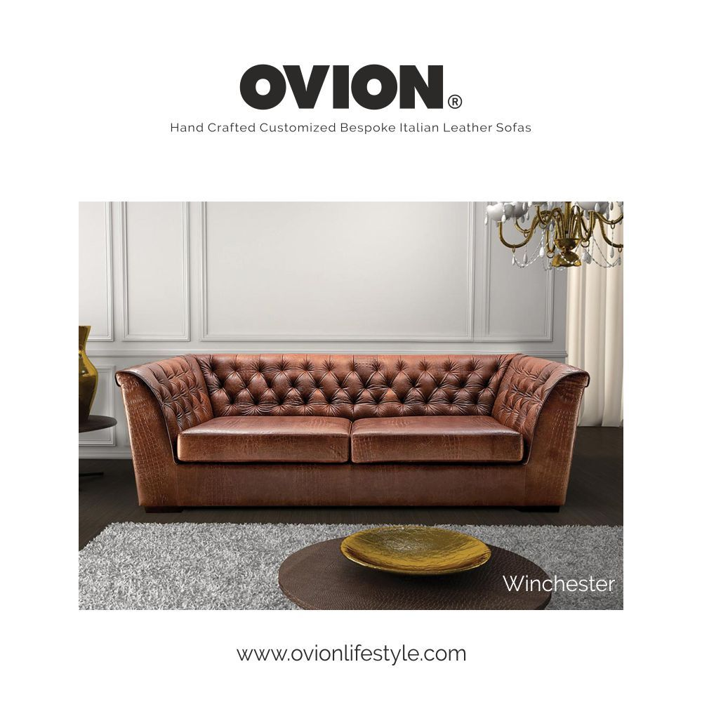 Think Sofas Ovion Winchester A Masterpiece With Blend Of Aniline Leather And Hand Tufted Chesterfield Workmanship
