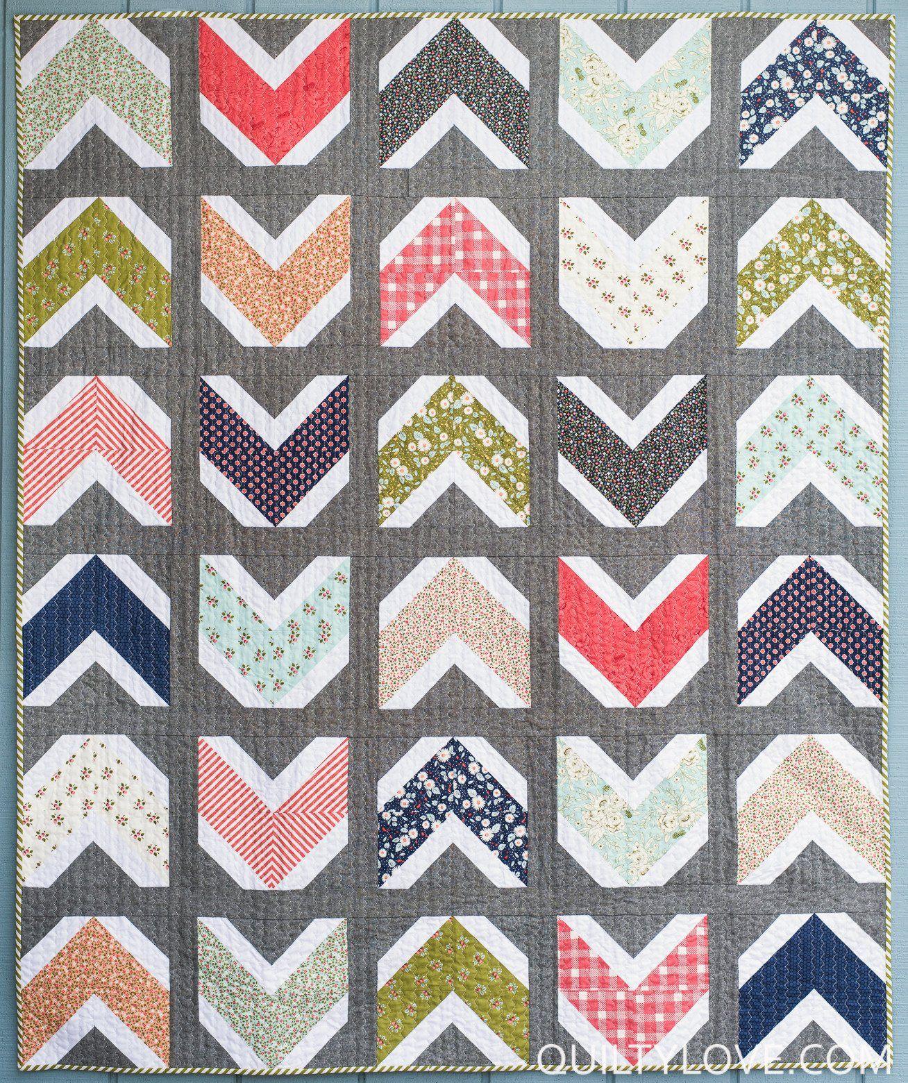 Quilty Arrows PDF quilt pattern Quilts Pinterest